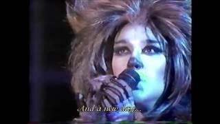 Céline Dion ~ Memory | Live Performance (1987) with Lyrics