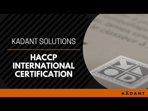 HACCP International Certification and Kadant Solutions - YouTube