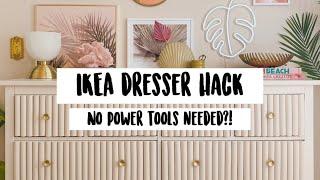 $200 DIY Ikea Hemnes Dresser Hack - Cute Glam Dresser Makeover