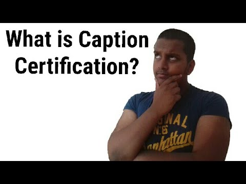 What is Caption Certification? | Presentation Vlogs - YouTube