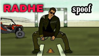 RADHE TRAILER SPOOF (SALMAN KHAN) | Trailer vs Reality | funny 2d animated trailer | DISHA PATANI - OF
