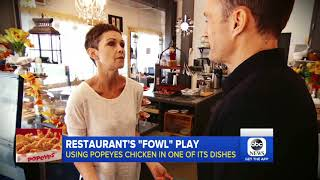 Restaurateur defends serving Popeyes chicken to customers