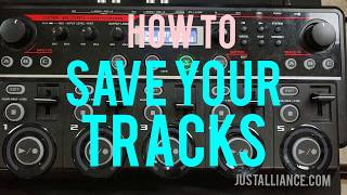 BOSS RC-505 /300 : Saving Your Tracks