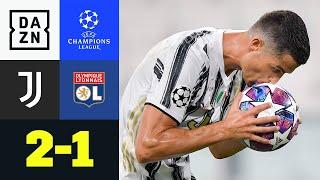 Lyon ist zum Achtelfinal-Rückspiel der UCL in Turin zu Gast. Das Hinspiel gewannen die Franzosen mit 1:0. Sehr früh gab es einen umstrittenen Elfmeter für die Gäste: Memphis Depay sorgte vom Punkt für die Führung. Juve konnte dem kompakt stehenden OL wenig entgegen setzen. Cristiano Ronaldo konnte schließlich kurz vor der Pause – ebenfalls durch einen Elfmeter – für die Hausherren ausgleichen. Wieder war es Ronaldo, der in der zweiten Hälfte mit einem Traumtor, die alte Dame in Führung brachte. Doch der Doppelpack von CR7 reichte nicht. Juventus machte in den Schlussminuten noch Druck, aber das entscheidende Tor blieb aus. Lyon schafft die Überraschung und steht im Viertelfinale.  ►Sichere dir deinen Gratismonat: http://bit.ly/DAZNerleben ►Alle Infos zur UEFA Champions League: https://bit.ly/2GD8lqf ►Das Programm von DAZN: http://bit.ly/2uFkulD ►DAZN auch auf Facebook: https://bit.ly/2lUGipo  +++ Die besten Fußball Highlights aus allen Wettbewerben auf YouTube +++ ►DAZN UEFA Champions League auf YouTube abonnieren: https://bit.ly/2WL75qD  ►DAZN UEFA Europa League auf YouTube abonnieren: https://bit.ly/2DTc8yb  ►DAZN Bundesliga auf YouTube abonnieren: https://bit.ly/2Daw8dS  ►DAZN Länderspiele auf YouTube abonnieren: https://bit.ly/2XAYNSd ►Goal auf YouTube abonnieren: https://bit.ly/2Bk4H0Y   +++ Die besten Sport Highlights auf YouTube +++ ►DAZN Tennis auf YouTube abonnieren: https://bit.ly/2DblEuK  ►DAZN Darts auf YouTube abonnieren: https://bit.ly/2ScVbqU    ►SPOX auf YouTube abonnieren: https://bit.ly/2MPaQqI   Erlebe tausende Sportevents in HD-Qualität auf allen Geräten. Auf DAZN gibt's europäischen Top-Fußball mit UEFA Champions League, UEFA Europa League, Premier League, Bundesliga-Highlights, La Liga, der Serie A und Ligue 1 sowie den besten US-Sport aus NFL, NBA, MLB und NHL. Dazu: Fight Sports, Darts, Tennis, Hockey und vieles mehr - wann und wo du willst.   ERLEBE DEINEN SPORT LIVE UND AUF ABRUF. AUF ALLEN GERÄTEN.   +++ Über DAZN +++   DAZN ist ein Livesp