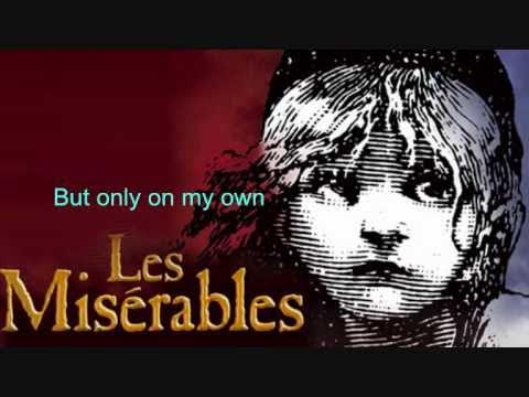 On my own- Les Miserables Lyrics♥