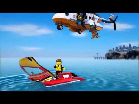 Vidéo LEGO City 60013 : L'hélicoptère des garde-côtes