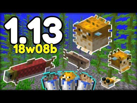 NOVĚ ŽIVÉ RYBY v Minecraftu 1.13! 18w08b (Aquatic Update)