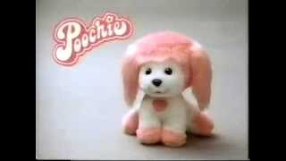 VINTAGE 80'S POOCHIE DOLL / PLUSH DOG AT CAMP COMMERCIAL