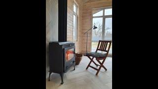 Каминная печь Haas+Sohn Arktic 12 с пластиной , каминофен від компанії House heat - відео 1