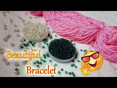 DIY | HOW TO MAKE BANGLE/BRACELET WITH SATIN CORD AND PEARLS | JEWELLERY MAKING | DIYARTIEPIE