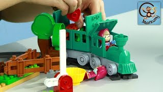 Маша и Медведь. РОЗЫГРЫШ игрушек железная дорога и огород. МанкиИгрушки