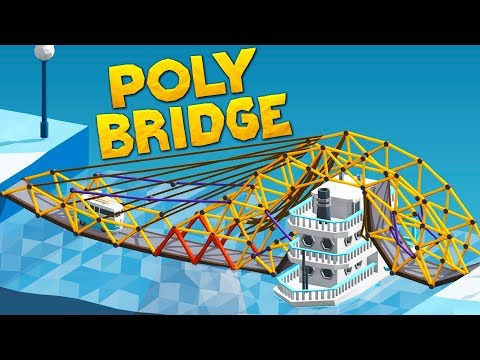 Building A Bridge That Literally Floats On Water in Poly Bridge