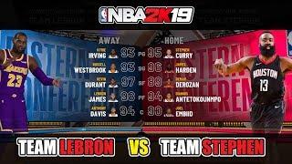 NBA 2k19 Gameplay All-Star Match Team Lebron vs Team Stephen