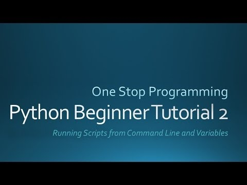 Python Beginner Tutorial 2 (For Absolute Beginners)