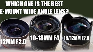 SONY E- MOUNT BEST WIDE ANGLE LENS?