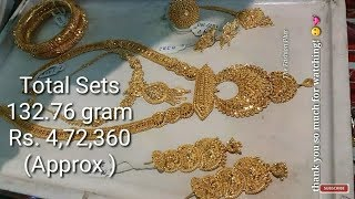 Latest Bridal Gold Complete Sets With Weight And Price
