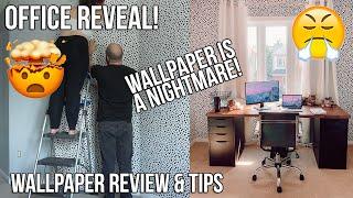 OFFICE REVEAL | HONEST WALLPAPER REVIEW & TIPS | IKEA DESK HACK