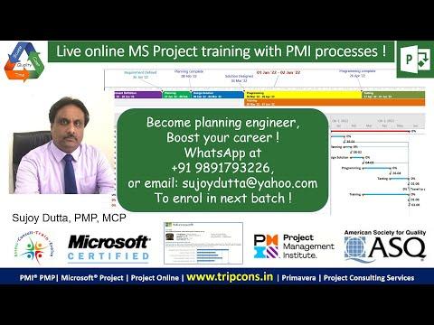 MS Project Full Online Training by Sujoy Dutta, MCP, PMP (WhatsApp : +919891793226)