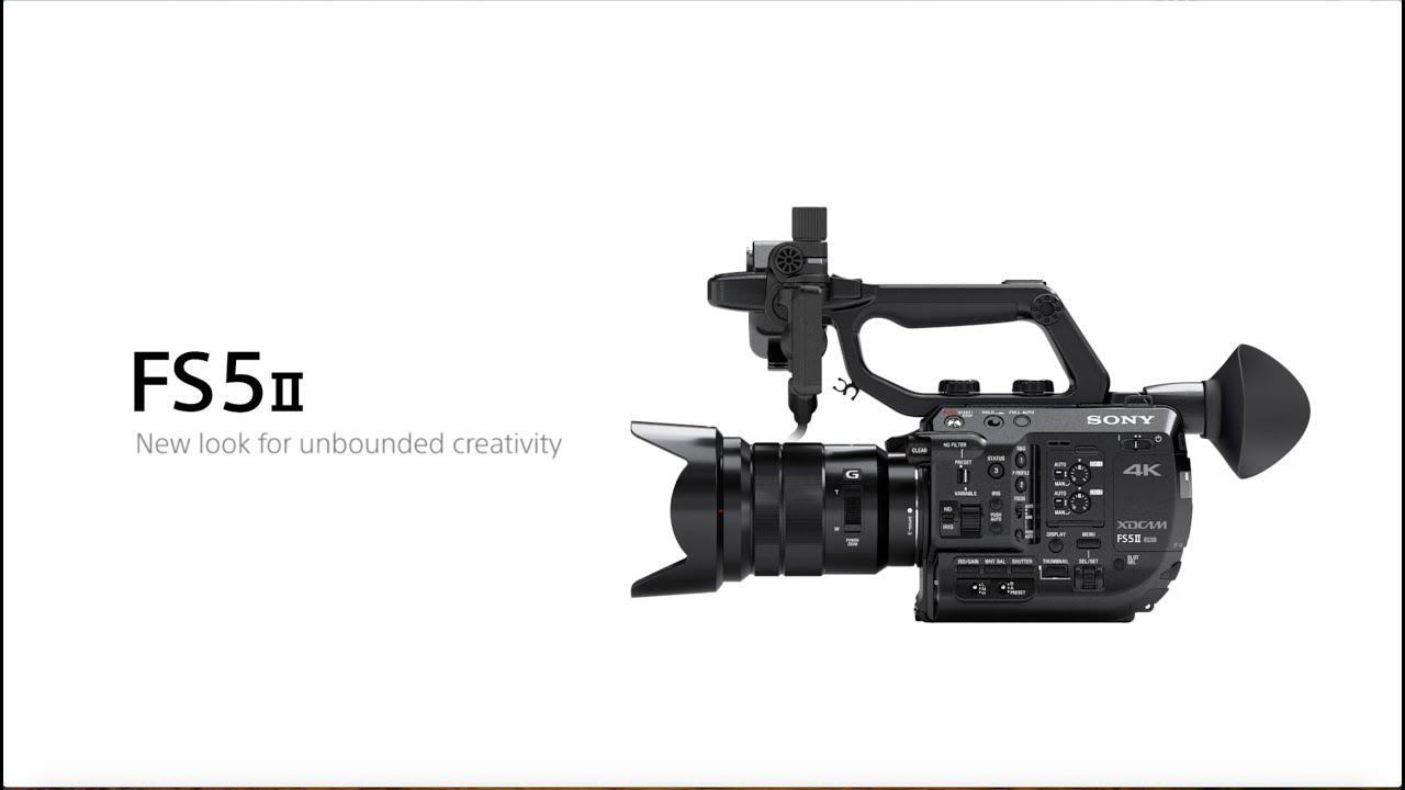 מצלמת וידאו עם עדשה Sony PXW-FS5M2K 4K XDCAM Super 35mm 3
