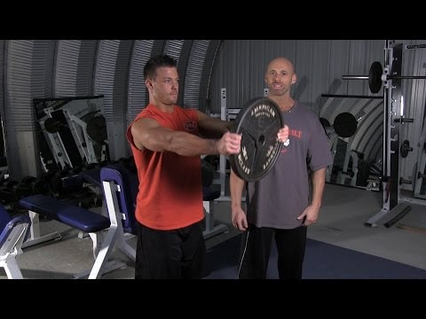 Plate Front Raise Exercise Com