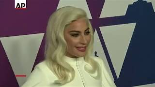 Gaga, Cooper arrive at Oscars Luncheon