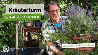 Kräuterturm für Balkon und Terrasse – Kräuter pflanzen mit wenig Platz | gardify Tipps