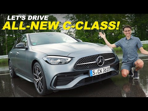 All-new Mercedes-Benz C-Class W206 driving REVIEW! With comparison S206 Estate T-Modell 2022
