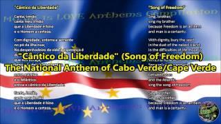 Cabo Verde National Anthem with music, vocal and lyrics Portuguese w/English Translation