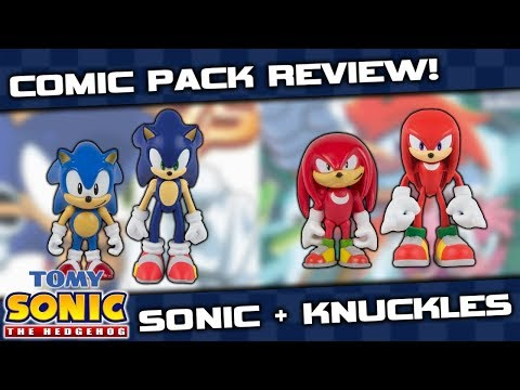 TOMY Sonic Collector Series Comic Pack Figure REVIEW - Sonic & Knuckles!