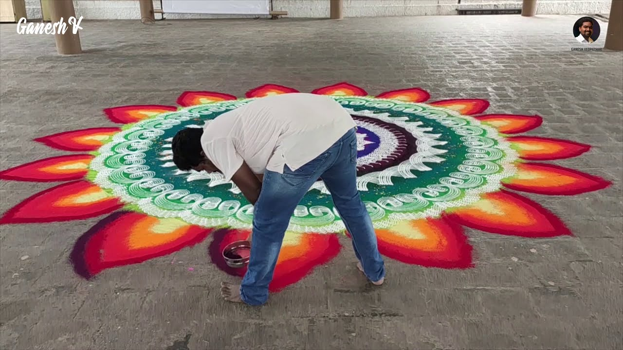 mandala rangoli design colorful and creative by ganesh vedpathak