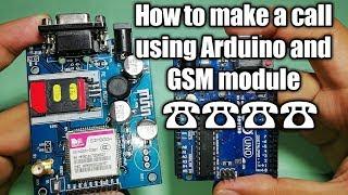 Arduino Tutorial: How to make phone call using the Arduino #GSM Module (SIM900A)