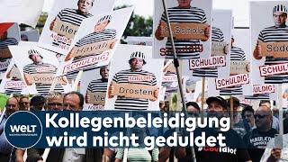 CORONA-DEMOS: Konsekwencje prawne ogłoszone lekarzom, którzy obrażają swoich kolegów-nagranie w j.niemieckim