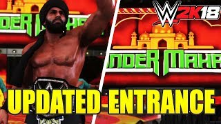 WWE 2K18 Jinder Mahal Updated Entrance, Graphics, Attire, and Custom Titantron! (w/Formula)