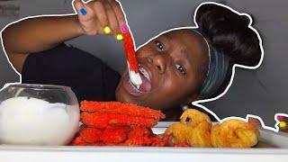 HOT CHEETOS FRIED PICKLES MUKBANG ~EATING SHOW