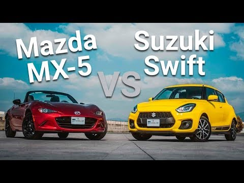 Suzuki Swift Sport vs Mazda MX-5