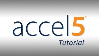 Accel5 - Tutorial