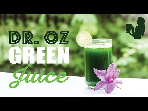 Video Dr. Oz Green Juice Recipe Using a Vitamix or Blendtec blender