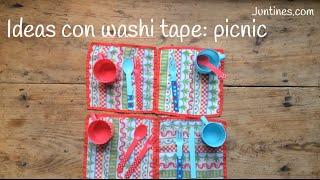 Ideas con WASHI TAPE: personalizar un PICNIC | Decorar con washi tape