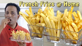 French Fries Recipe - Make Crispy French Fries At Home - Flavored  Fries Peri Peri