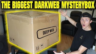 THE WORLDS BIGGEST DARK WEB MYSTERY BOX OPENING (WE FIND SOME SCARY STUFF)