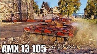АМХ 13 105 НЕ НАГИБ 🌟 9600 dmg 🌟 World of Tanks бой лт 10 уровня