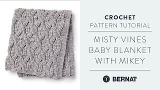 Manta para Bebe Bernat Misty Vines [Nivel intermedio de crochet]