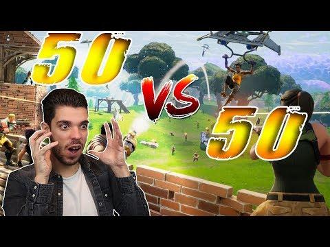 FortNite 50 vs 50 - Le nouveau mode de jeu !