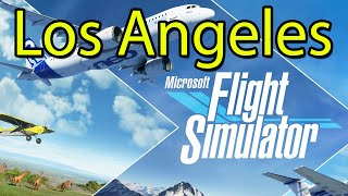 Microsoft Flight Simulator Los Angeles Gameplay Tour 2020 [Xbox Game Pass] - Disneyland Too!