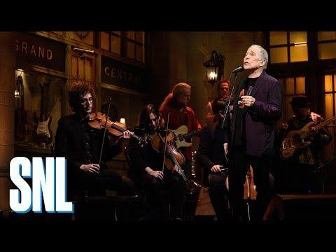 with Paul Simon on SNL
