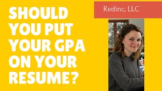 Should You Put Your GPA On Your Resume?  Entry Level Resume Writing Tips
