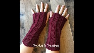 Camel Stitch Fingerless Gloves Crochet Video Pattern By Crochet It Creations