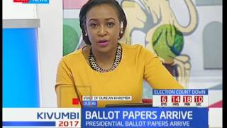 UPDATE: First batch of ballot papers arrive in the country