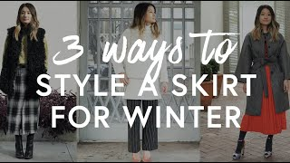 3 Ways To Style A Skirt For Winter | The Zoe Report By Rachel Zoe