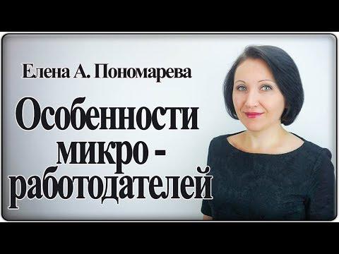 Особенности микроработодателей - Елена Пономарева